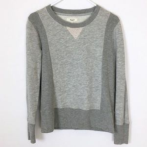 Madewell gray monochrome colorblock sweatshirt S